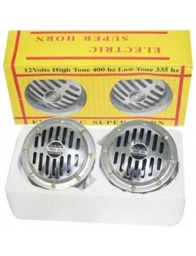 Carub Bosch Tipi Hella İkili Korna Krom Çap:15Cm